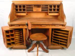 410b s roll oak wooten double rotary roll top desk with swing end with wooten manf label