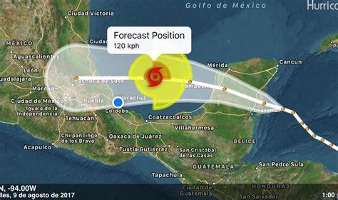 imagenes satelitales al momento franklin impactar 237 a veracruz como hurac 225 n categor 237 a 1