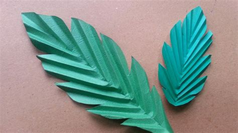 How To Make Paper Palm Leaves - how to make paper leaves diy crafts tutorial