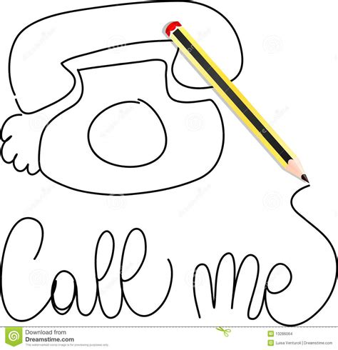 call me a call me stock images image 13286064