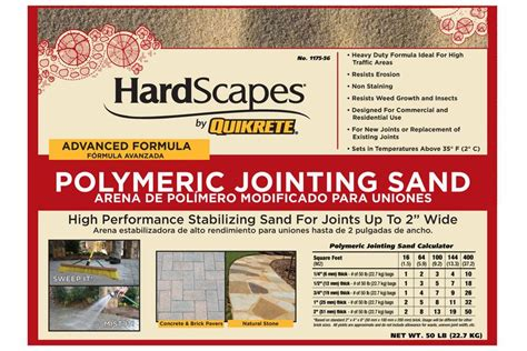 patio jointing sand quikrete hardscapes polymeric jointing sand concrete