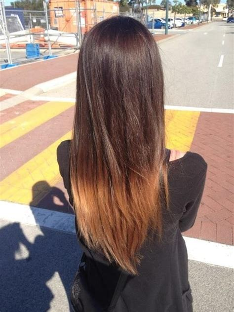 dyed hairstyles for brown hair brown dip dyed hair