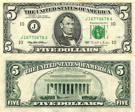 imagenes ocultas en los dolares bilder dollars papiergeld 5 geld