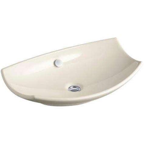 almond bathroom sink almond vessel sinks bathroom sinks the home depot