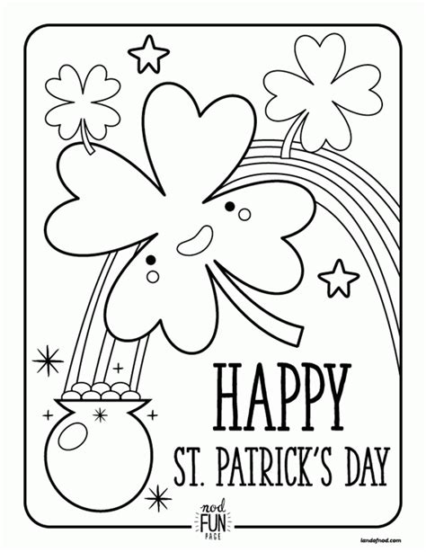 printable coloring pages st s day st patricks coloring pages for adults to color az