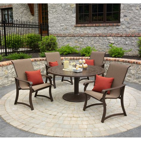 Outdoor Dining Set In Backyard Living Area Homelilys Decor Small Patio Dining Sets