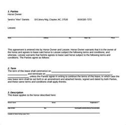 lease agreement templates sle pasture lease agreement templates 7 free