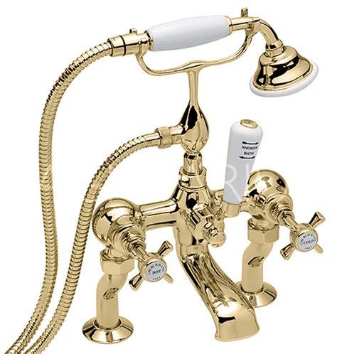 gold bath shower mixer taps sagittarius churchmans deluxe deck bath shower mixer tap gold