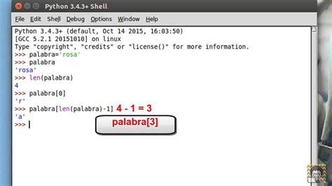 cadenas de python programaci 243 n python cadenas youtube