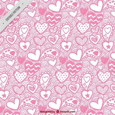 valentines day patterns s day pattern of hearts vector free