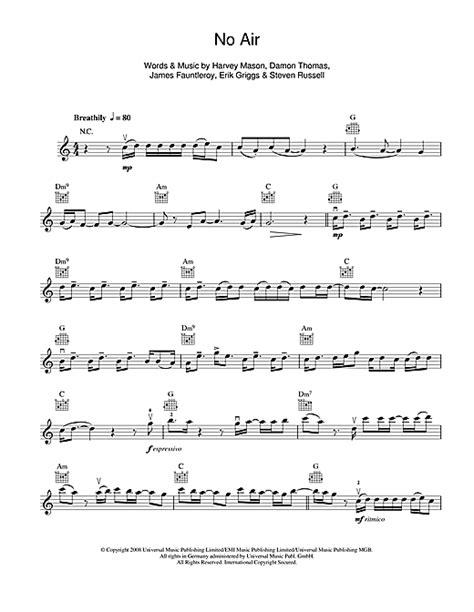 jordin sparks tattoo piano notes no air sheet music by jordin sparks violin 114463
