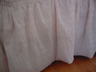 Spiral Upholstery Pins My Cottage Charm How To Make An Easy Bedskirt Mine Is