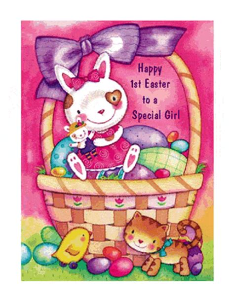 printable easter birthday cards baby girl s 1st easter greeting card easter printable