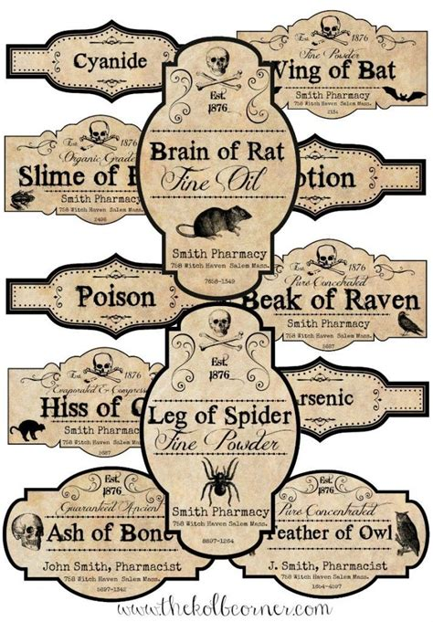 printable halloween jar labels how to make apothecary jars and free printable labels