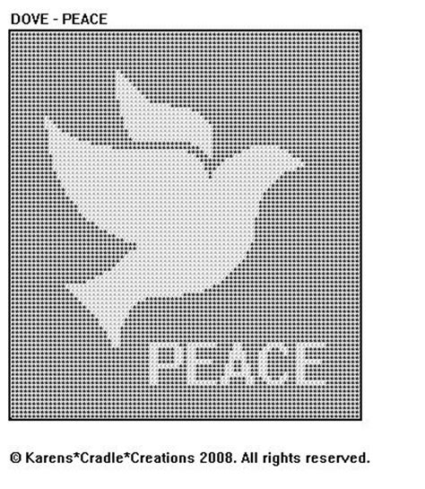 dove knitting pattern dove peace filet crochet pattern ebay