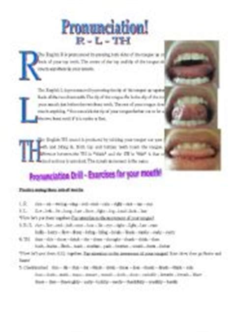 L Pronunciation by Pronunciation For R L And Th Great For Japanese Or Korean