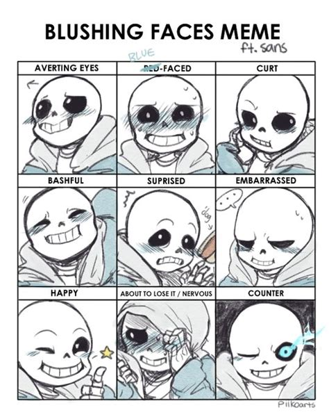 Sans Meme - sans undertale i love thee facial expressions i need