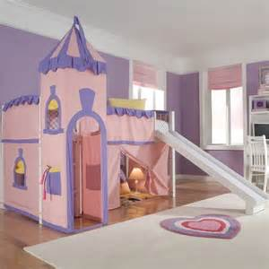 Princess Bunk Bed With Slide School House Princess Low Loft Bed With Slide Modern Beds