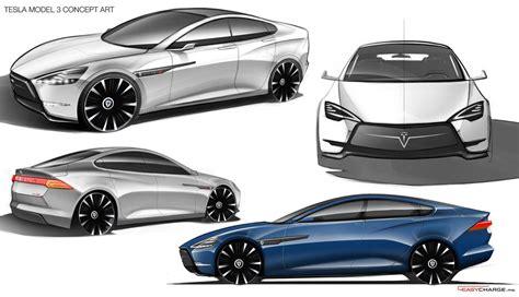 Tesla Designs Tesla Model 3 Has Doors And Crossover Ego In