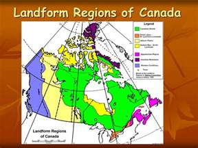 landform region map of canada canadian landform regions ppt