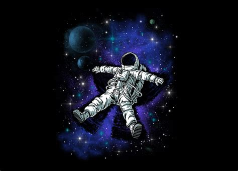 astronaut s snow angel by ben chen threadless