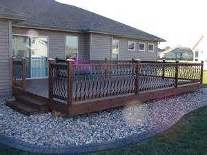 Metal Deck Spindles Panoramio Photo Of Deck With Metal Spindles Built By