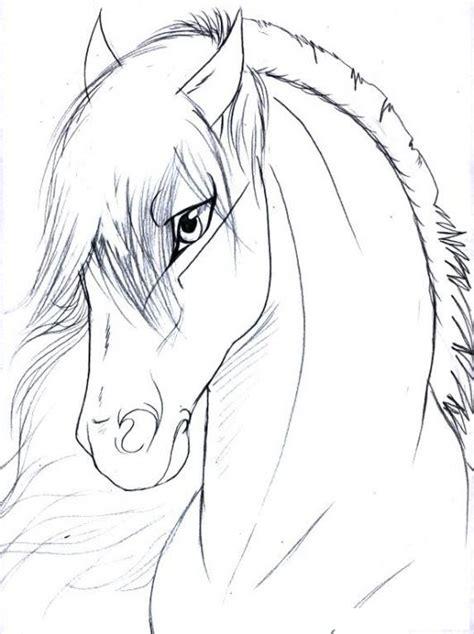 imagenes para perfil elegantes perfil de caballo elegante para pintar y colorear