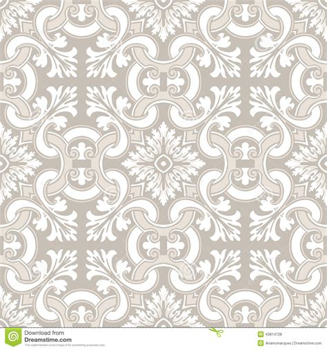seamless royal pattern vector seamless ornamental tile background stock vector image