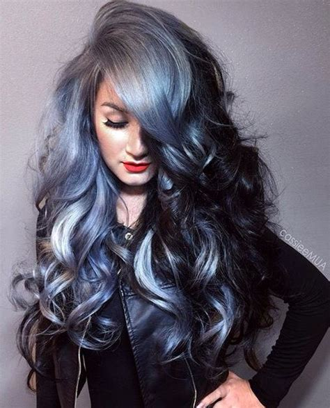 hairstyles add black with bluesh tones to dark brown hair 17 best ideas about two color hair on pinterest peach