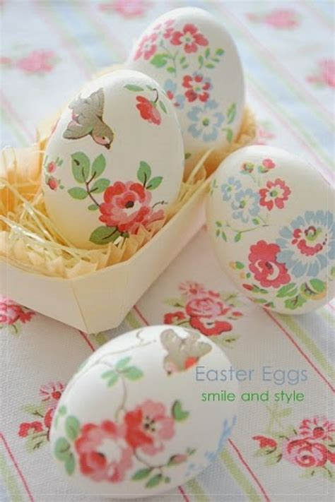 Floral Decoupage - 25 unique easter egg ideas home stories a to z