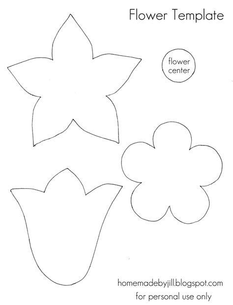 Flowery Template free printable flower templates