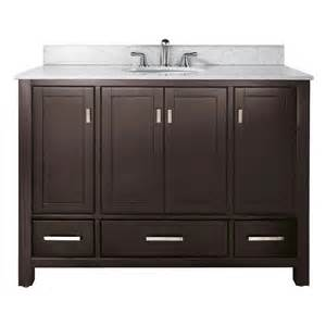 48 Inch Bathroom Vanity With Top And Sink by 48 Quot Modero Bathroom Vanity Espresso Bathroom Vanities