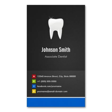 Innovative Business Cards Templates by Associate Dentist Dental Creative Innovative Business