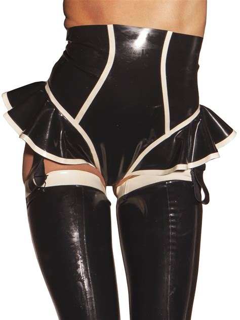 Rubber Black White honour s high waisted in rubber