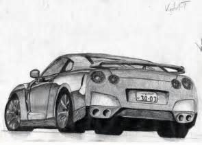 Nissan Gtr Drawing Nissan Gt R Drawing By Vigdrift On Deviantart