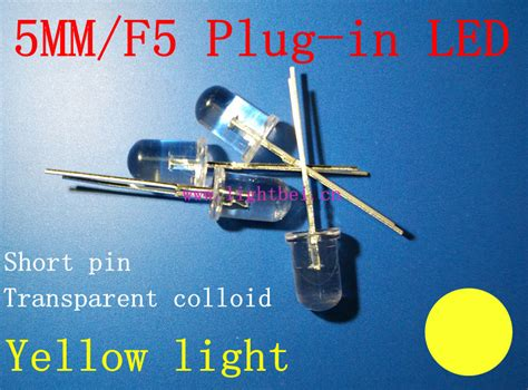 Led F5 Yellow Led 5mm Kuning led l in led 5mm f5 yellow light pin light emitting diode factory direct