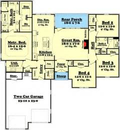 Small House Plans Split Bedroom Plan 11774hz Attractive 4 Bedroom Split Bedroom House