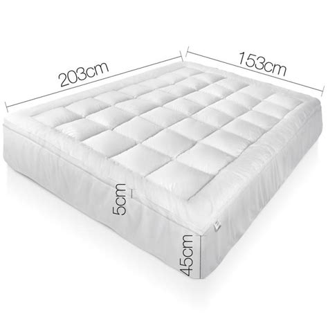 pillow top bed topper queen bamboo pillow top mattress topper pad 5cm buy