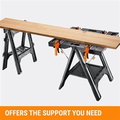 work bench vc worx pegasus multi function work table and sawhorse with