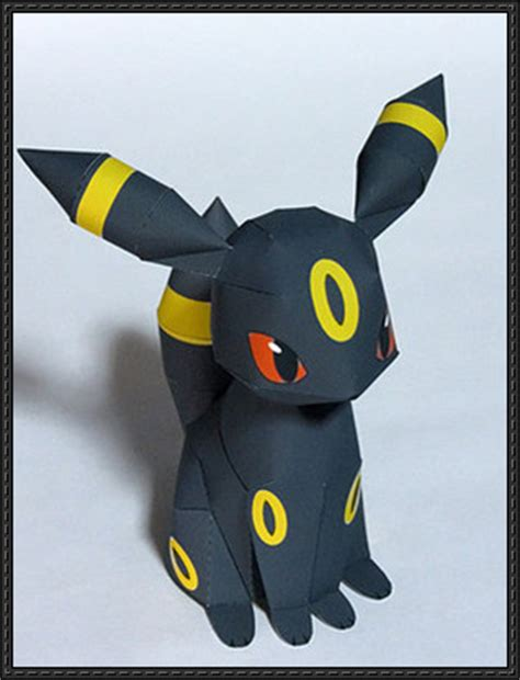 Umbreon Papercraft - new paper craft umbreon free papercraft
