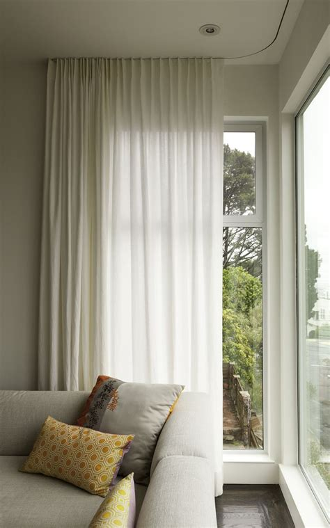 corner window curtain 22 best ceiling mounted curtain rail images on pinterest