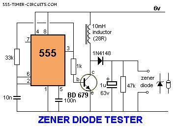 how to test zener diode with dmm robotech maker 555 timer ic circuit