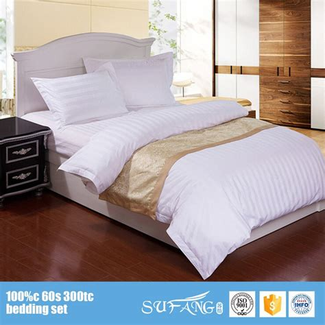 Bed Cover Set 180x200 T3010 5 nantong hotel supplies wholesale hotel collection sheet