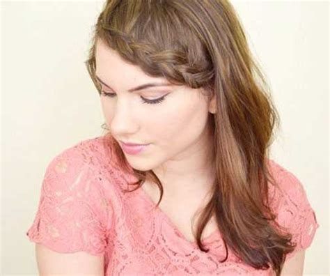braided hairstyles with side bangs shoulder length hairstyles with side bangs hairstylesco