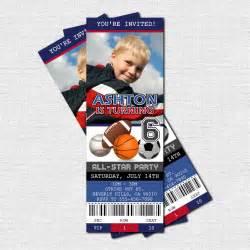 sports ticket invitation template sports ticket invitations all birthday by
