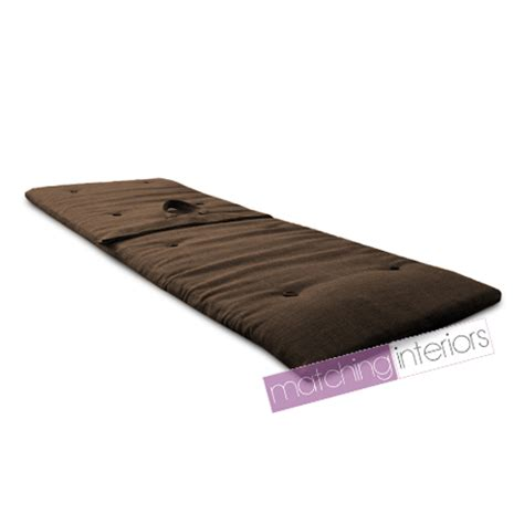 Travel Futon Mattress brown travel guest sleepover mattress roll up futon z bed gap year student ebay