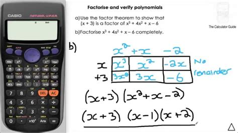 calculator factor how to factor polynomials with calculator howsto co