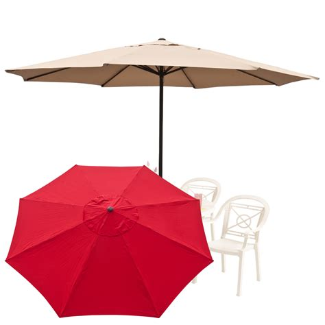 13 Foot Patio Umbrella 13 Ft Outdoor Large Patio Umbrella Tent Deck Gazebo Sun Shade Cover Market Ebay