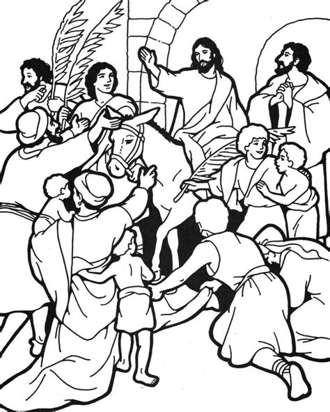 coloring pages jesus enters jerusalem 78 images about bible jesus and his triumphal entry on