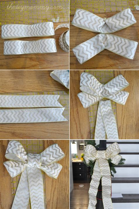 how to tie ribbon around a christmas tree make diy wired ribbon bows the diy